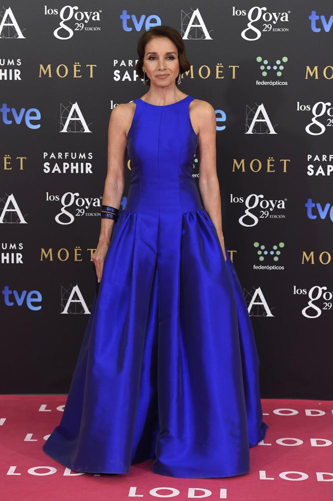 Famosas con vestido azul electrico