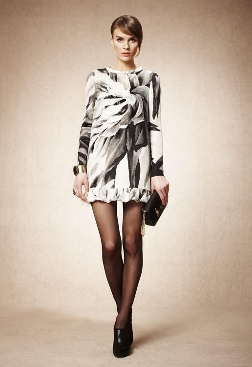 pedro-del-hierro-vestidos-de-coctel-oi-2012-13-vestido-corto-estampado-blanco-y-negro