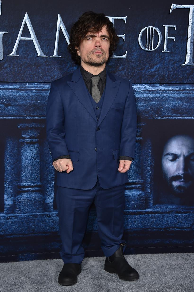 "Peter Dinklage attends the season six premiere of  ""Game Of Thrones"" at TCL Chinese Theatre on Sunday, April 10, 2016, in Los Angeles. (Photo by Jordan Strauss/Invision/AP)"