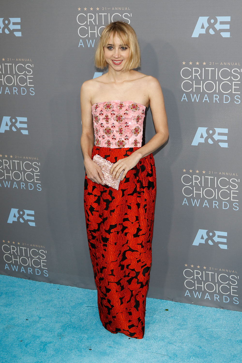 21st Annual Critics Choice Awards held at Barker Hangar at Santa Monica Airport - Arrivals Featuring: Zoe Kazan Where: Los Angeles, California, United States When: 17 Jan 2016 Credit: WENN.com **Not available for publication in Germany**